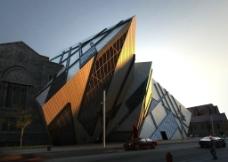 精品创意室外建筑3D场景模型图片