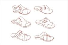 矢量鞋图图片