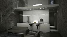 双层现代酒吧3d模型图片