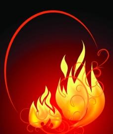 火焰矢量素材图片