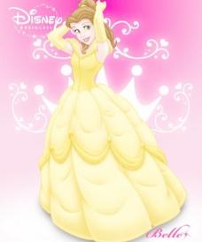 贝儿公主 可爱的迪士尼公主图片