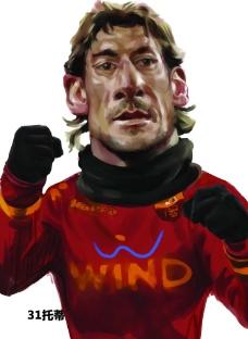 世界杯球星 漫画 托蒂图片