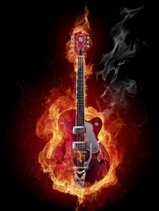 火吉他图片