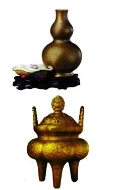 三足鼎 葫芦形瓷器图片