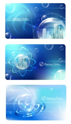 蓝色调矢量科技类背景图形素材