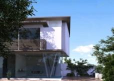 精品设计别墅3D场景模型图片