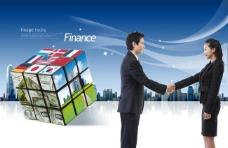 韩国商务图