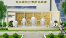 喷泉景观图片