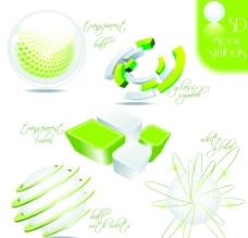 绿色图标矢量素材图片