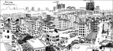 录塘村鸟瞰图片