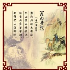 古诗 古画 古香古色 唐代 李商隐 夜雨寄北图片