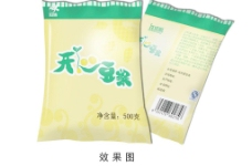 豆浆软包装图片