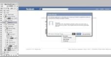 Facebook ui设计分层素材图片
