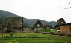 日本 岐阜 五崮山 村落图片
