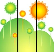 移门卡通太阳图片