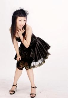 黑色婚纱摄影图片