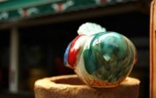 彩釉陶瓷小鸟图片