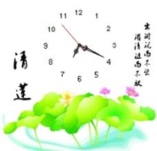 清莲钟表图片