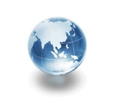 立体水晶地球高清图片
