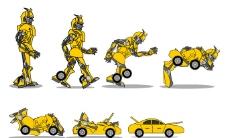 可爱大黄蜂变形图片
