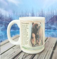 美国探险棕熊子马克杯图片