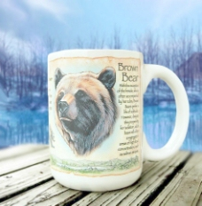 美国探险棕熊马克杯图片