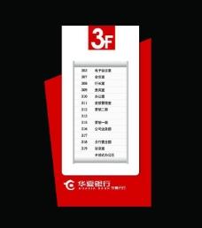 华夏银行 指示牌 索引牌图片