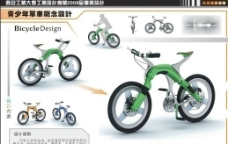 自行车展板图片
