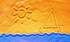 沙滩背景高清图片