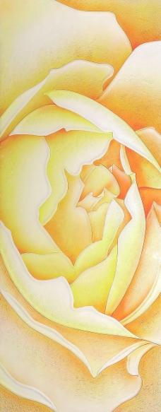 黄玫瑰 室内墙纸背景