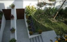 清新 简洁 大气 房子 别墅 蓝天 阳台 休闲图片
