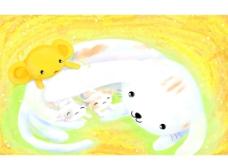 淡彩手绘卡通图片