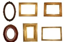 六款欧式画框分层素材图片