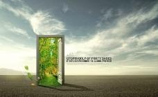 绿色之门 通向大门图片