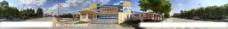 北京电影学院动漫培训基地360度全景图片