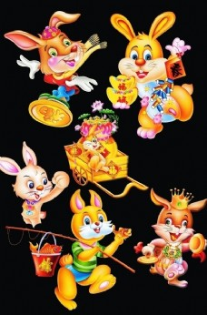 超清 卡通兔子 大组合1