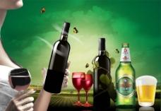 美酒海报图片