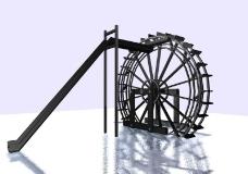 精品水车模型图片