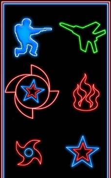 电玩霓虹灯图片