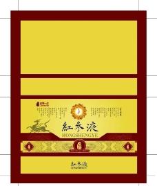 红参液平面包装图片