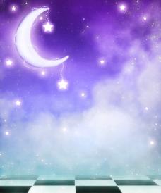 浪漫世界 弯月 星星图片