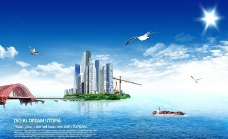 海天一色 海水 房地产图片