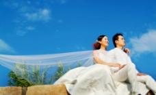浪漫的婚纱摄影图片