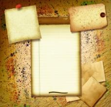 划线背景 牛皮纸 信纸图片