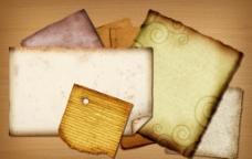 牛皮纸 木纹 撕裂的卡纸图片