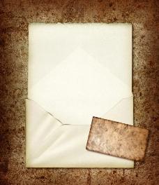 怀旧纸 信封 牛皮纸图片