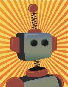 复古机器人图片