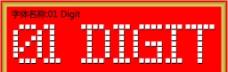 01 digit字体