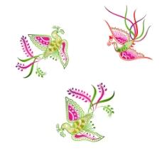 孔雀花纹图片
