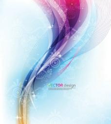 彩色动感曲线图片